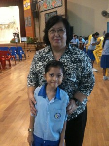 Amira with Ms Tay