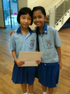 Amira Sufya and Christabelle Lee